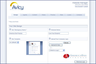 Avicy Website Manager